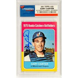 Autographed Washington Nationals Gary Carter 2001 Topps #620 Card