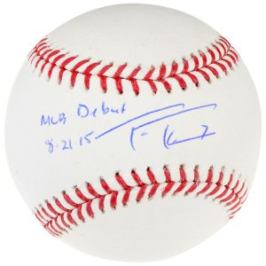 Autographed Washington Nationals Trea Turner Baseball with MLB Debut Inscription