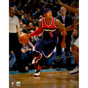 Autographed Washington Wizards Bradley Beal Fanatics Authentic 16″ x 20″ Dribbling Photograph