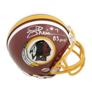 Joe Theismann Washington Redskins Fanatics Authentic Autographed Riddell Mini Helmet with 83 NFL MVP Inscription