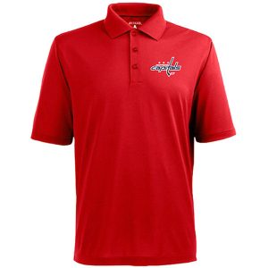 Men's Washington Capitals Antigua Red Pique Xtra-Lite Polo