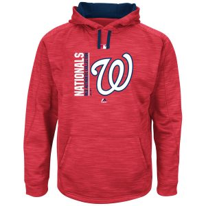 Men's Washington Nationals Majestic Authentic Collection Fleece Pullover Hoodie