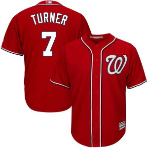 Men's Washington Nationals Trea Turner Majestic Alternate Scarlet Official Cool Base Player Jersey