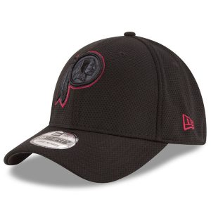 Men's Washington Redskins New Era Black Tone Tech Redux 39THIRTY Flex Hat