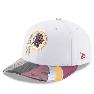 Men's Washington Redskins New Era White 2017 NFL Draft On Stage Low Profile 59FIFTY Fitted Hat