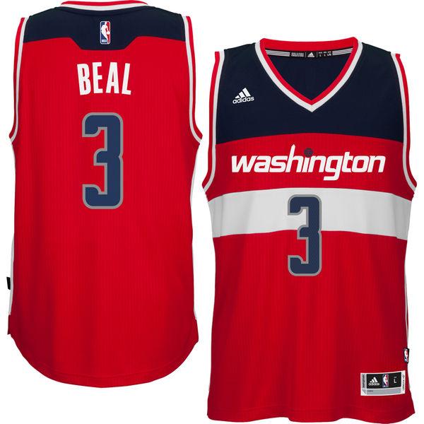 new product 1cc7c eccf6 Men's Washington Wizards Bradley Beal adidas Red Player Swingman Road Jersey