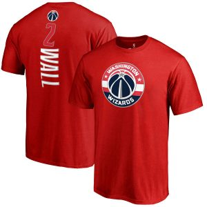 Men's Washington Wizards John Wall Fanatics Branded Red Backer Name & Number T-Shirt