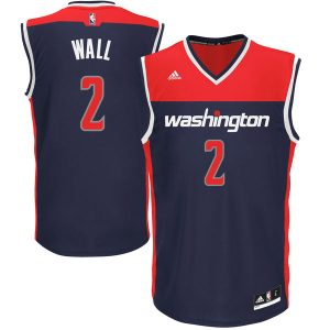 Men's Washington Wizards John Wall adidas Blue Replica Jersey