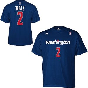 Mens Washington Wizards John Wall adidas Navy Blue Net Number T-Shirt
