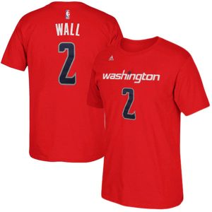 Mens Washington Wizards John Wall adidas Red Net Number T-Shirt
