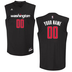 Men's Washington Wizards adidas Black Custom Chase Jersey