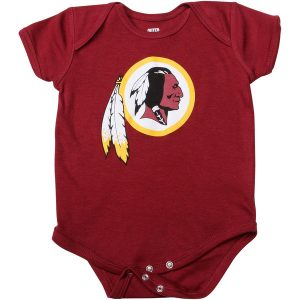 Newborn Washington Redskins Burgundy Team Logo Bodysuit
