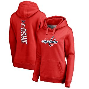 TJ Oshie Washington Capitals Women's Backer Name & Number Pullover Hoodie