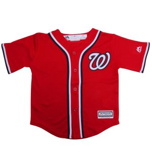 Toddler Washington Nationals Majestic Red Alternate Cool Base Jersey