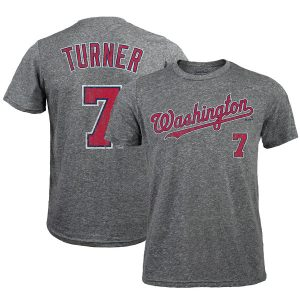 Trea Turner Washington Nationals Majestic Threads Name & Number Tri-Blend T-Shirt