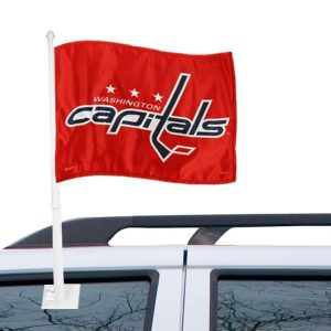 Washington Capitals 11″ x 15″ Red Car Flag