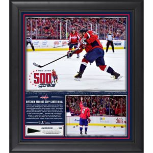 Alex Ovechkin Framed 500th Career Goal Collage With A Piece of Game-Used Puck