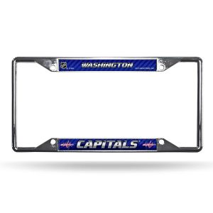 Washington Capitals EZ View Chrome License Plate Frame