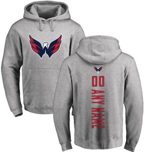Washington Capitals Fanatics Branded Personalized Backer Pullover Hoodie
