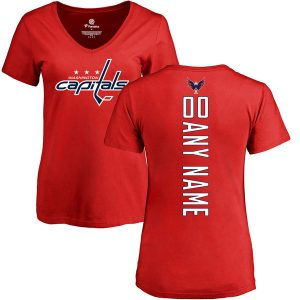 Washington Capitals Fanatics Branded Women's Personalized Backer T-Shirt