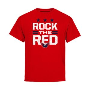 Washington Capitals Fanatics Branded Youth Hometown Collection Rock the Red T-Shirt