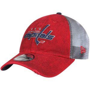Washington Capitals New Era Team Rustic Trucker 9TWENTY Adjustable Snapback Hat