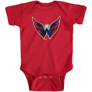 Washington Capitals Soft as a Grape Newborn & Infant Primary Logo Bodysuit
