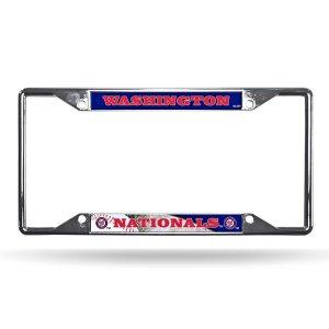 Washington Nationals EZ View Chrome License Plate Frame
