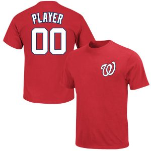 Washington Nationals Majestic Custom Roster Name & Number T-Shirt