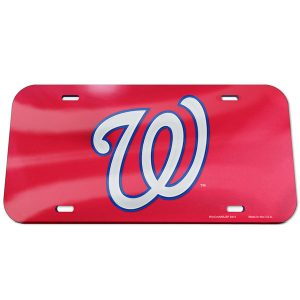 Washington Nationals WinCraft Logo Crystal Mirror License Plate