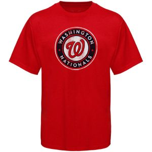 Washington Nationals Youth Distressed Logo T-Shirt