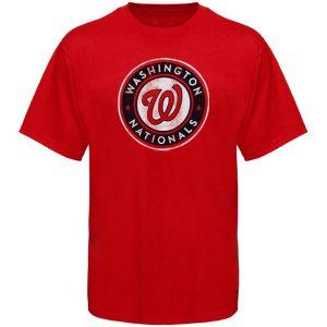 Washington Nationals Youth Distressed Logo T-Shirt