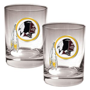 Washington Redskins 14oz. Rocks Glass Set