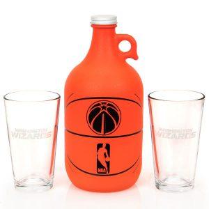 Washington Wizards Basketball Jug & Pint Glass Mixed Box Set