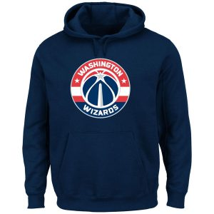 Washington Wizards Majestic Current Logo Tech Patch Pullover Hoodie