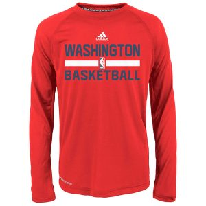 Washington Wizards adidas Youth Practice ClimaLITE Long Sleeve T-Shirt