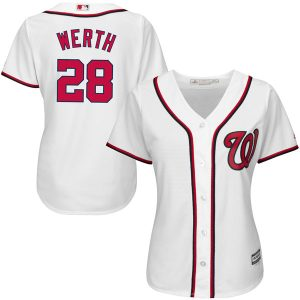 Women's Washington Nationals Jayson Werth Majestic White Home Cool Base Player Jersey