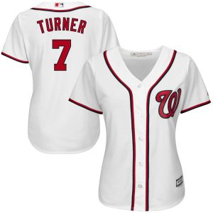 Women's Washington Nationals Trea Turner Majestic Home White Cool Base Player Jersey