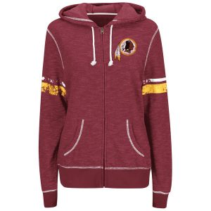Women's Washington Redskins Majestic Burgundy Athletic Tradition Full-Zip Hoodie