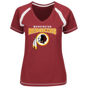 Women's Washington Redskins Majestic Burgundy Game Day Tradition V-Neck T-Shirt