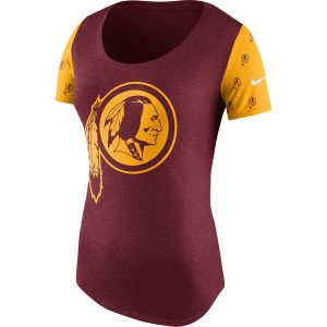 Women's Washington Redskins Nike Burgundy/Gold First String Tri-Blend T-Shirt