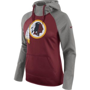 Women's Washington Redskins Nike Gray All Time Raglan Pullover Performance Hoodie