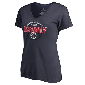 Women's Washington Wizards Navy 2017 NBA Playoffs Participant Drive V-Neck T-Shirt