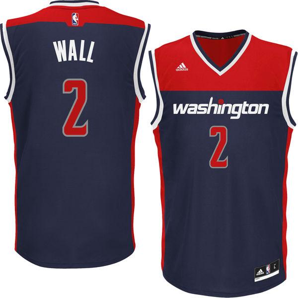 various colors 13ef5 70238 Youth Boy's Washington Wizards John Wall adidas Navy Blue Replica Jersey