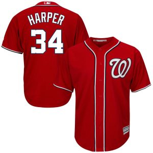 Youth Washington Nationals Bryce Harper Red Alternate Cool Base Player Jersey