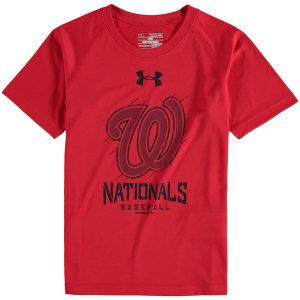 Youth Washington Nationals Under Armour Red Tech T-Shirt