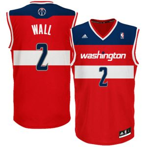 Youth Washington Wizards John Wall adidas Red Replica Road Jersey