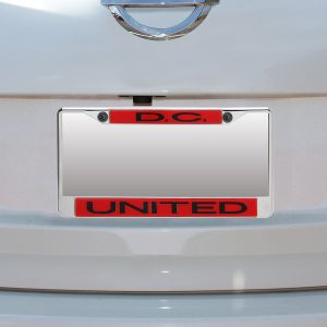 D.C. United Acrylic Insert Chrome License Plate Frame