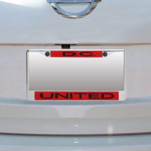 D.C. United Acrylic Insert Chrome License Plate Frame