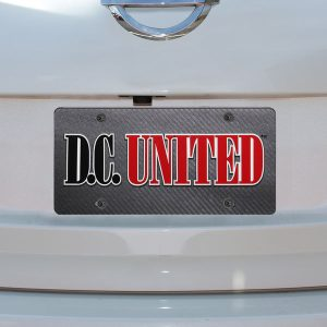 D.C. United Carbon Fiber License Plate